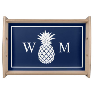 A Pineapple Monogram Serving Tray