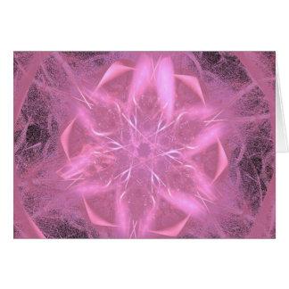 A Pink Fractal Card