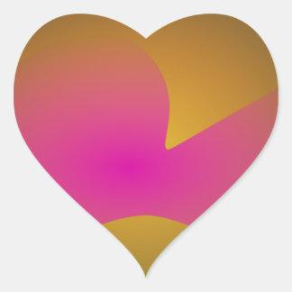 A Pink Petal Heart Sticker