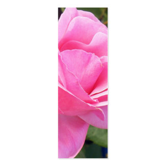 A Pink Rose Mini Bookmarks Business Cards