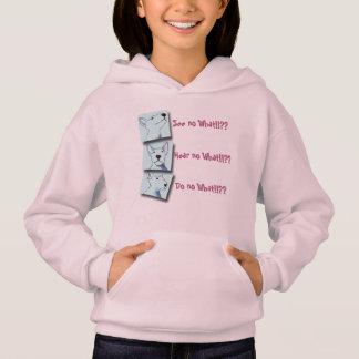 A pink soft fleece Bullterrier Pop Art hoodie