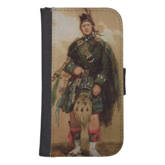 A Piper of the 79th Highlanders at Chobham Samsung S4 Wallet Case