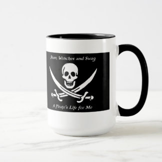 A Pirates Life black ringer mug