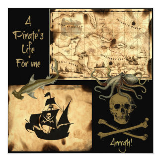 A Pirate's Life For Me Caribbean Treasure Map Card