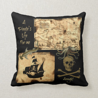 A Pirate's Life For Me Caribbean Treasure Map Cushion