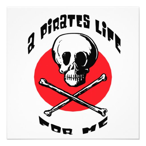 A Pirates Life For Me Personalized Announcements