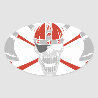 A Pirates Life For Me Oval Sticker
