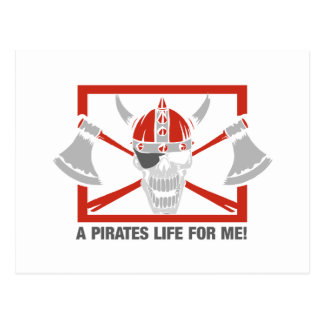 A Pirates Life For Me Postcard