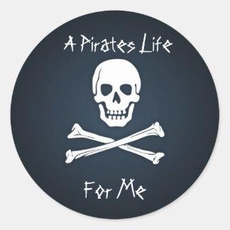 A Pirates Life for Me Round Sticker