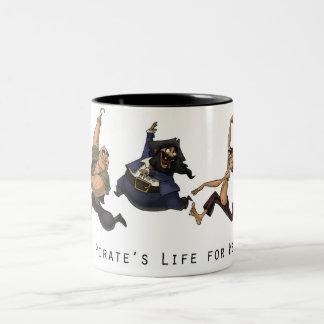 A Pirate's Life for Me Two-Tone Coffee Mug