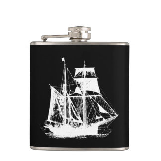 A Pirates Life ship_2 Hip Flask