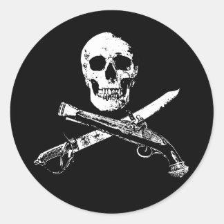 A Pirates Life skullsticker_1 Round Sticker