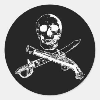 A Pirates Life skullsticker_3 Round Sticker