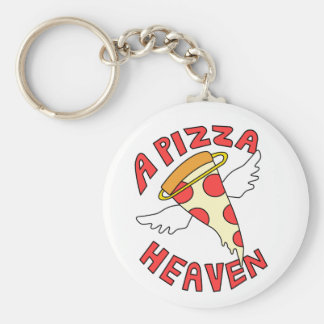 A Pizza Heaven Basic Round Button Key Ring