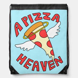 A Pizza Heaven Drawstring Bag