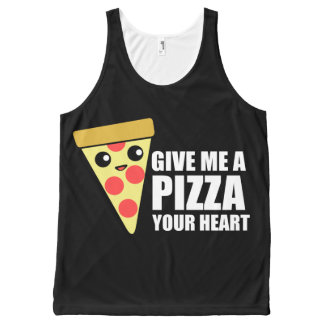 A Pizza Your Heart All-Over Print Singlet