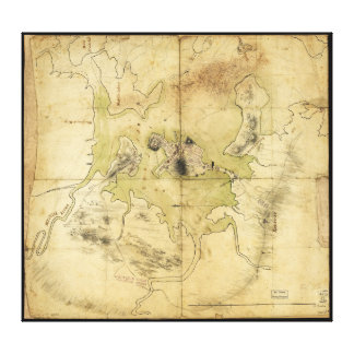 A Plan of Boston & Vicinity Map (1775) Stretched Canvas Prints