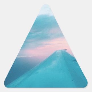 A Plane View Triangle Sticker