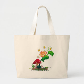 A plant with bees jumbo tote bag