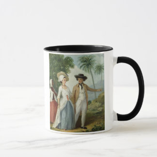 A Planter and his Wife, Attended by a Servant, c.1 Mug