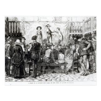 A Play in a London Inn Yard Postcard