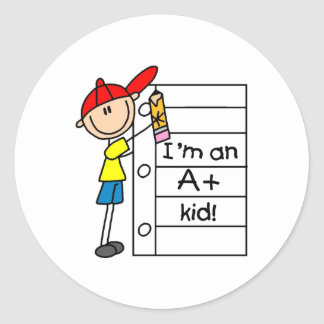 A Plus Kid Classic Round Sticker