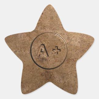 A Plus Star Sticker