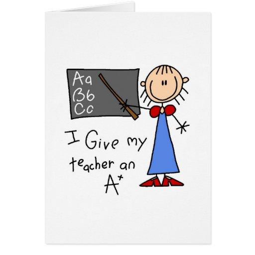A Plus Teacher Greeting Card