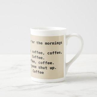A Poem for Mornings Funny Coffee Mug