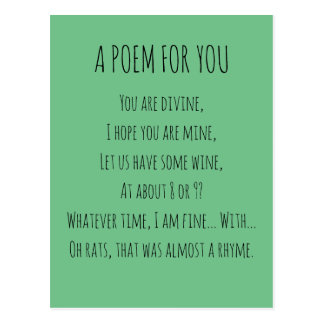 A Poem For You Postcard