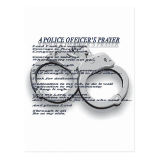 A POLICE OFFICER'S PRAYER POSTCARD