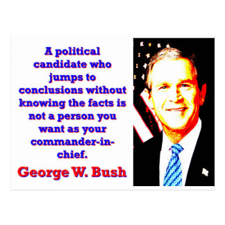 A Political Candidate Who Jumps - G W Bush Postcard