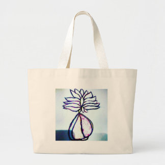 A Polyphonic Lotus Heart by Luminosity Large Tote Bag