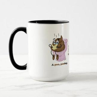 A poo, pooing. (mug) mug