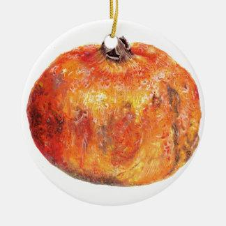 A popegranite ceramic ornament