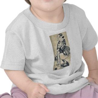 A popular beauty  by Torii, Kiyonobu Ukiyoe T-shirt