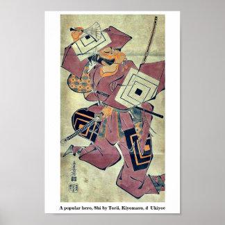 A popular hero, Shi by Torii, Kiyomasu, d  Ukiyoe Posters