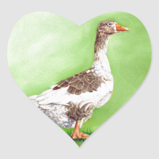 A Portrait of a Goose Heart Sticker
