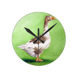 A Portrait of a Goose Round Clock