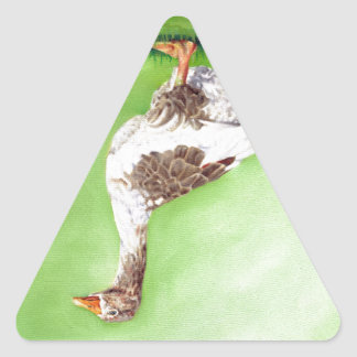 A Portrait of a Goose Triangle Sticker