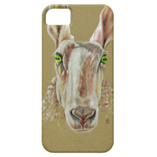 A portrait of a sheep case for the iPhone 5
