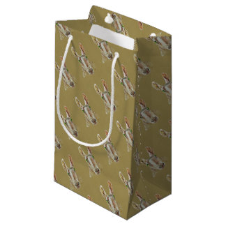 A portrait of a sheep small gift bag