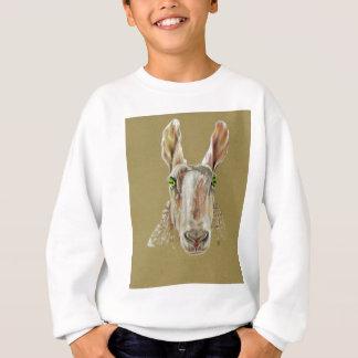 A portrait of a sheep sweatshirt