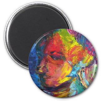 A Portrait of an artist 6 Cm Round Magnet