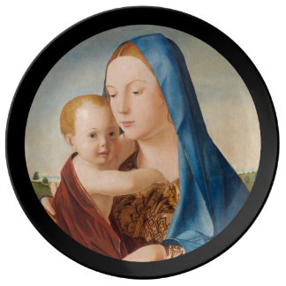 A Portrait of Mary and Baby Jesus Plate