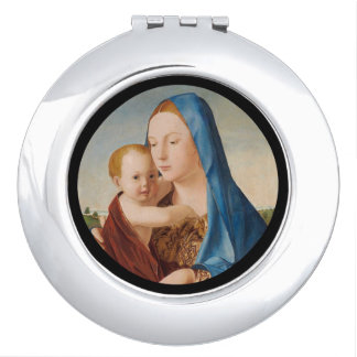 A Portrait of Mary and Baby Jesus Vanity Mirror