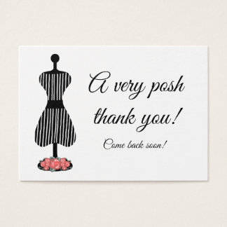 A Posh Thank You Business Card
