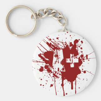 A positive Blood Type for Vampires & Zombies Basic Round Button Key Ring