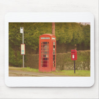 A Post Box A Telephone Box and a Bus Stop Mouse Mat
