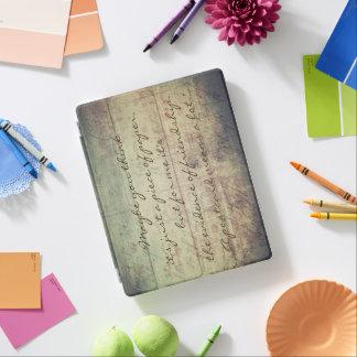 """A postcard means a lot"" iPad Cover"
